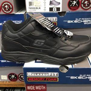 Skechers Albie slip resistant black